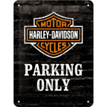 HARLEY-DAVIDSON PARKING ONLY TÁBLAKÉP