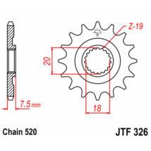JT LÁNCKERÉK JTF326