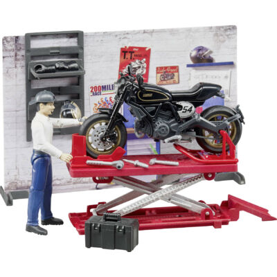 MOTORCYCLE WORKSHOP BRUDER SPIELWAREN MODELL