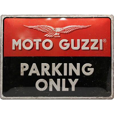 MOTO-GUZZI PARKING ONLY TÁBLAKÉP