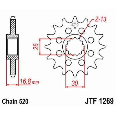 JT LÁNCKERÉK JTF1269