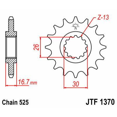 JT LÁNCKERÉK JTF1370