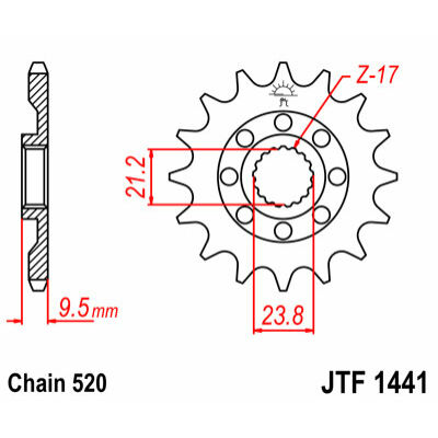 JT LÁNCKERÉK JTF1441