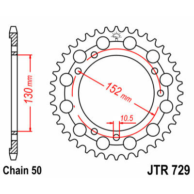 JT LÁNCKERÉK JTR729
